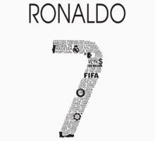 Cristiano Ronaldo Typographic Black Portugal by Ingleburt