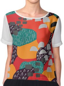 Abstract Chiffon Top