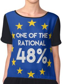 One of the rational 48% - EU Referendum Chiffon Top