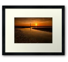 Seascape Sunset Framed Print