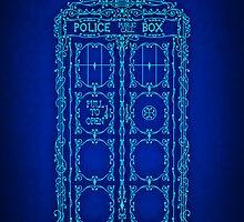 Fancy Blue Box by SwanStarDesigns