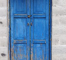 Blue Wooden Door by rhamm