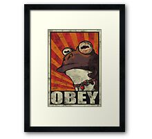 OBEY THE HYPNOTOAD! Framed Print