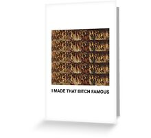 """Kanye West """"Famous"""" Music Video  Greeting Card"""