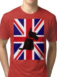 Scottie Dog Union Jack Tri-blend T-Shirt