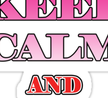 Keep Calm and Stand Proud Sticker