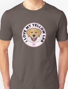 Love My Yellow Lab Unisex T-Shirt