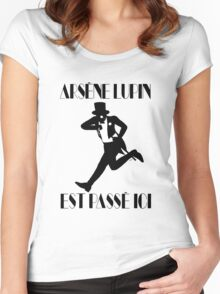 Arsène Lupin est passé ici Women's Fitted Scoop T-Shirt