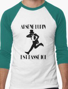 Arsène Lupin est passé ici Men's Baseball ¾ T-Shirt
