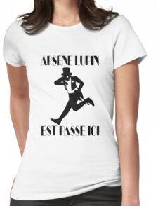 Arsène Lupin est passé ici Womens Fitted T-Shirt