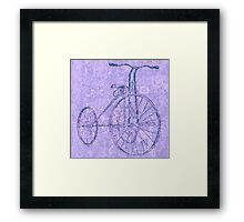 Blue Tricycle Framed Print