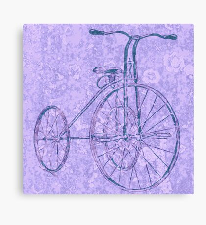 Blue Tricycle Canvas Print