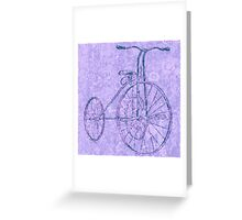 Blue Tricycle Greeting Card