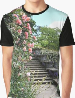 Wonderfully Welsh Floral Steps Graphic T-Shirt