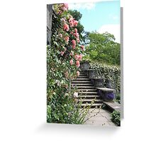 Wonderfully Welsh Floral Steps Greeting Card