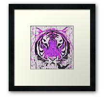 Violet Tiger Framed Print