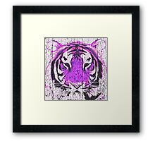 Violet Tiger Framed Print