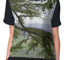 Trees Overlooking Loch Ness Chiffon Top