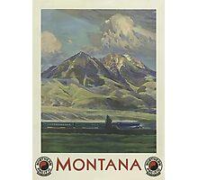 Montana Vintage Travel Poster Photographic Print