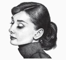 Audrey Hepburn Stippling Portrait Kids Clothes