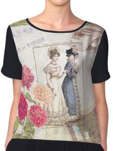 Vintage Dresses and Flowers Chiffon Top