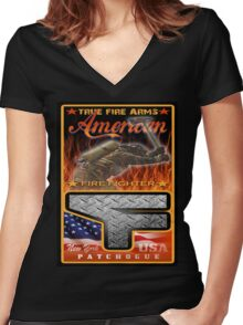 fireman Women's Fitted V-Neck T-Shirt