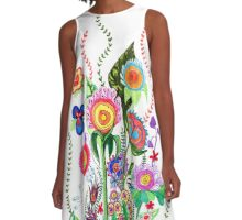 FLOWERS IN MEXICO A-Line Dress