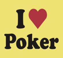 I Heart Love Poker Kids Clothes