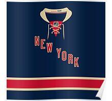 New York Rangers Alternate Jersey Poster