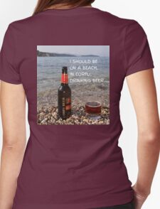 CORFU BEER Womens Fitted T-Shirt
