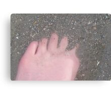 Foot In The Sand Canvas Print