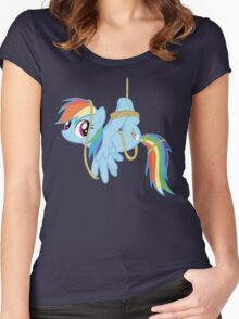 Tied-up pony Women's Fitted Scoop T-Shirt