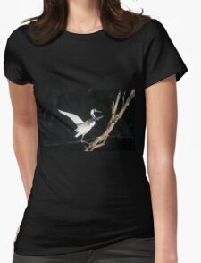 Tree Walking Womens Fitted T-Shirt
