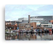 Boats at Regency Wharf, Birmingham Canvas Print