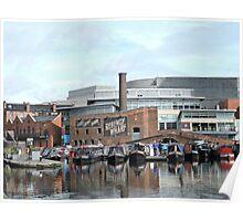 Boats at Regency Wharf, Birmingham Poster
