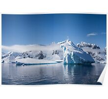 Cloudy Icebergs Poster