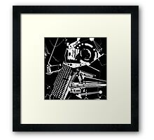 Through the Lens of Space and Time Framed Print