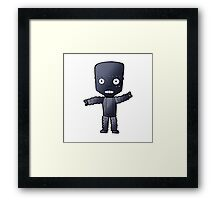 Robot says Cheese Framed Print