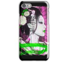 Geisha Phone Case (Pink & Green) iPhone Case/Skin