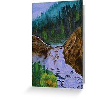 Color at Firehole Falls Greeting Card