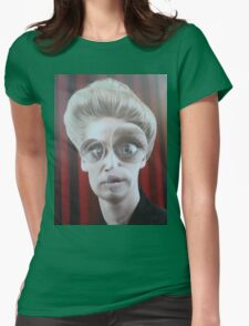 Advertisement Funny Face Womens Fitted T-Shirt