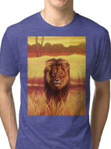 Lion The King of All Animals Tri-blend T-Shirt