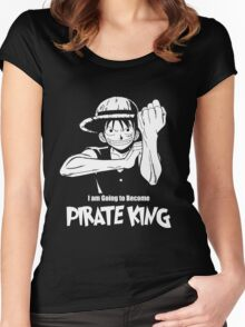 One Piece - Monkey D. Luffy Women's Fitted Scoop T-Shirt
