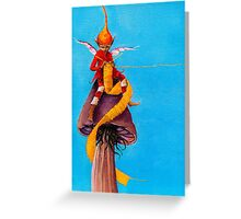 Yellow Scarf Greeting Card