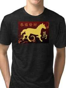 happy chinese new year : year of the horse Tri-blend T-Shirt