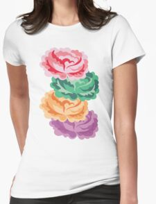 CHEVRON ROSES Womens Fitted T-Shirt