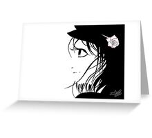 Girl in the wind Greeting Card