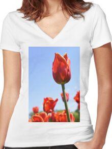 tulip 2 Women's Fitted V-Neck T-Shirt