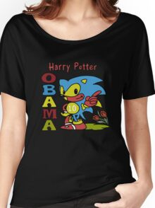 Sonic Harry Potter Obama Women's Relaxed Fit T-Shirt