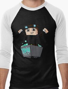 Minecraft Diamonds Men's Baseball ¾ T-Shirt